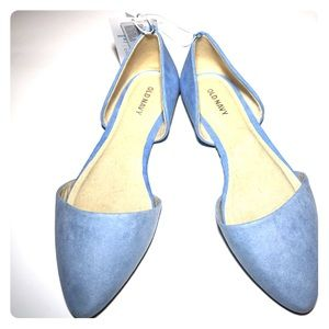 Old Navy Sueded D'Orsay Flat